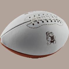 Ball-Produktion, Football, Rugbyball, bedrucken lassen, produzieren lassen, American Football, Werbeartikel, Werbeball, Ball mit Logo