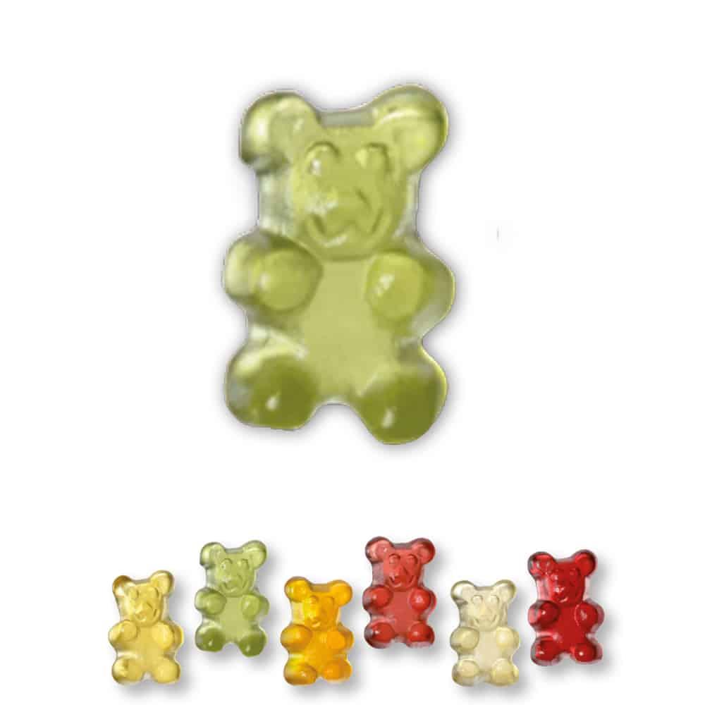 Super Mini Teddybären Fruchtgummi Tütchen mit Werbeaufdruck