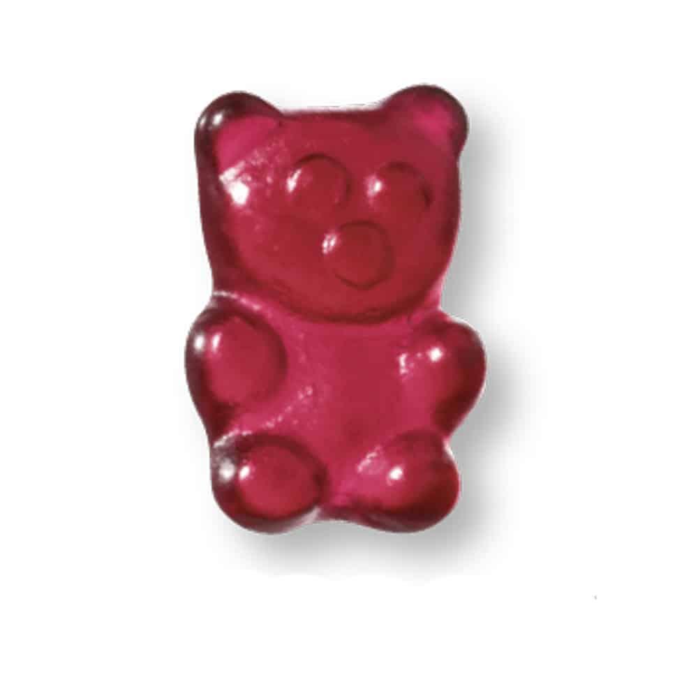 Fruchtgummi im Werbetütchen mit Fruchtgummi in Teddybär Form