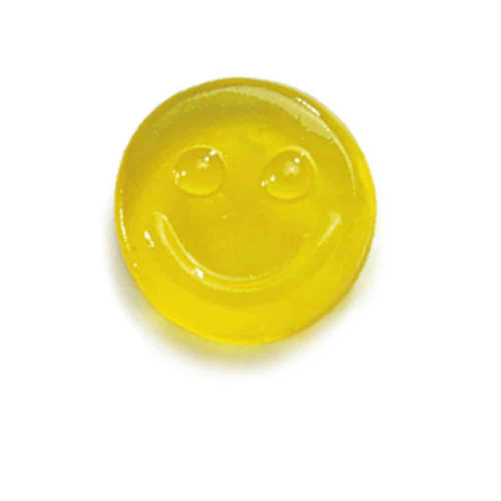 Fruchtgummi Smiley Gesicht Werbeartikel Tütchen mit Druck