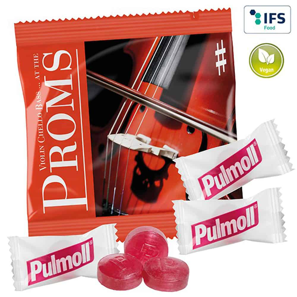 3er-Pack Pulmoll im Werbetütchen mit individuellem Druck