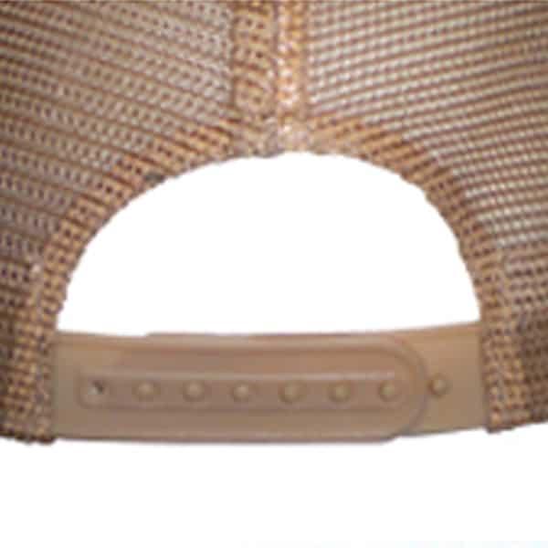 Baseballcap-Promocaps-Werbeartikel-Verschluss PVC / Plastik-Verschluss 7 Loch