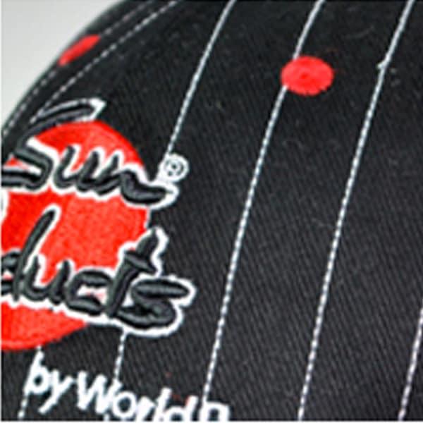 Baseballcaps - Veredelungstechnik gestickte Nadelstreifenoptik - Werbeartikel