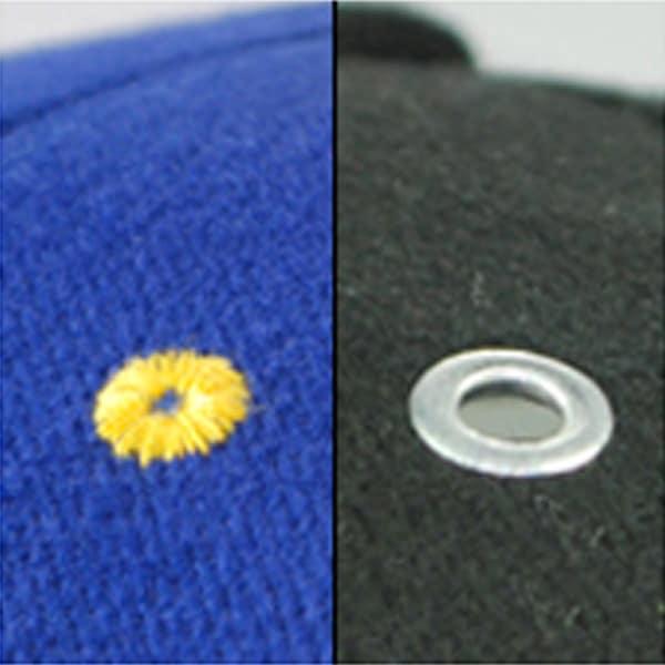 Baseballcaps - Veredelungstechnik umstickte Luftlöcher oder mit Nieten - Werbeartikel