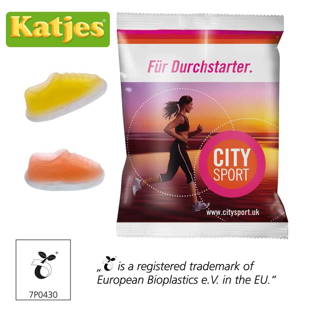 Werbefruchtgummi Katjes Jogger Gums Werbetütchen Werbeartikel