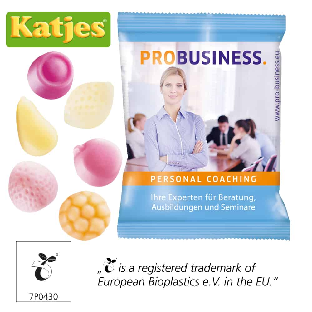 Katjes Yoghurt Gums Werbeartikel Werbetütchen Fruchtgummi