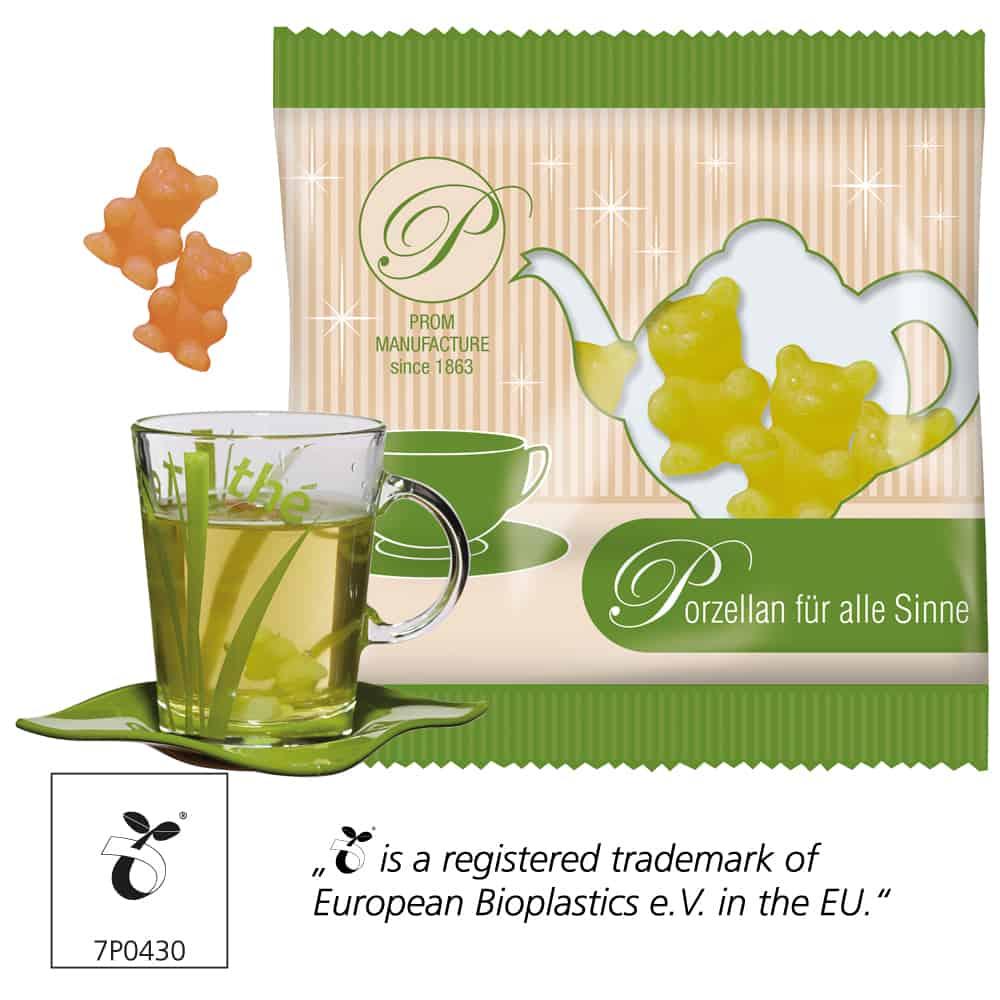 Tee-Bärchen im Werbetütchen als Werbeartikel - Heißgetränk & Naschvergnügen als Werbeartikel