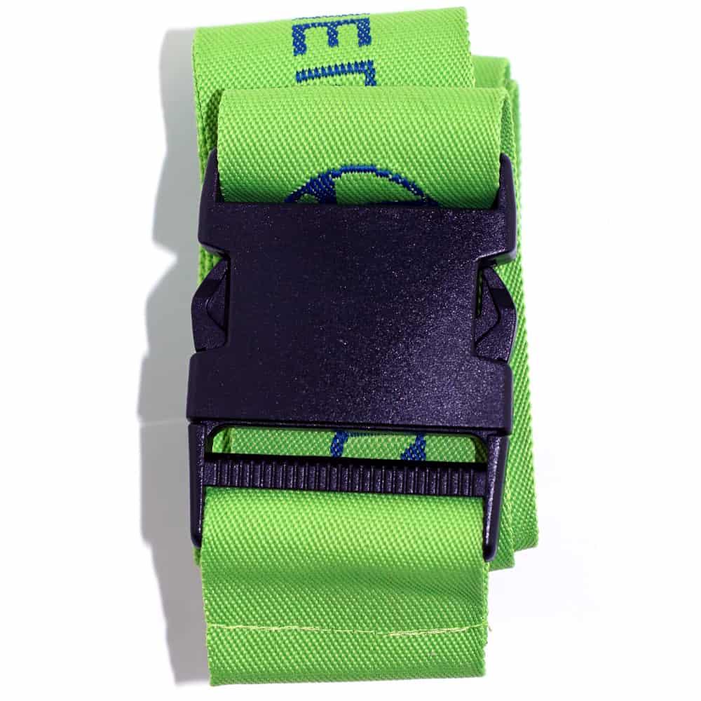 Koffergurte - bag belts - luggage belts - Kofferbänder - Standard PVC Clip - Verschluss - Werbeartikel