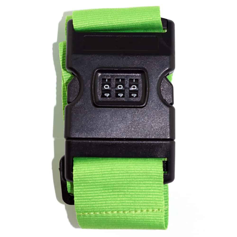 Koffergurte - bag belts - luggage belts - Kofferbänder - Zahlenschloss - Verschluss - Werbeartikel