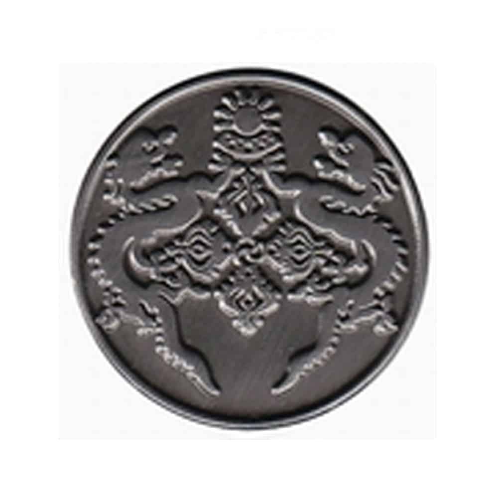 Platierung, Oberflaechenveredelung, Pins, Anstecker, Metallpins, Veredelung anti-silver, antique Silber