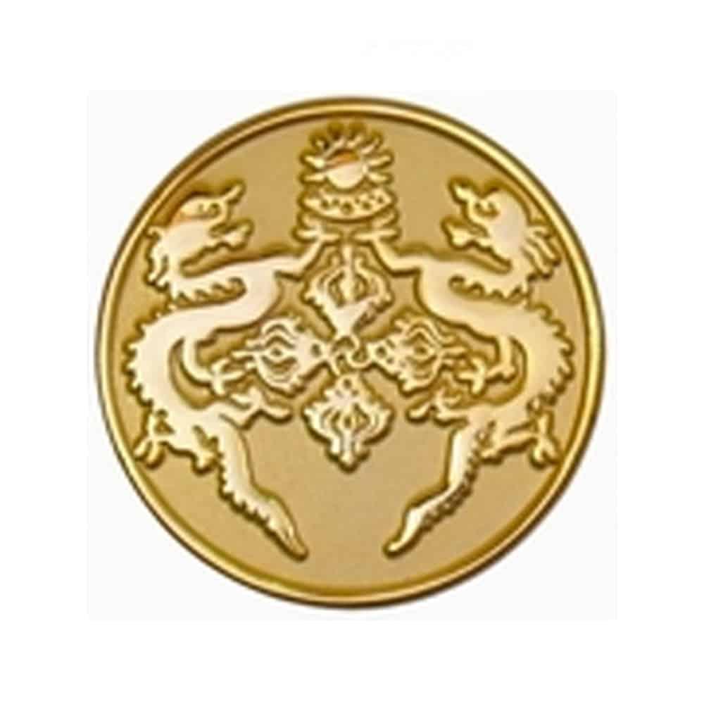 Platierung, Oberflaechenveredelung, Pins, Anstecker, Metallpins, Veredelung foggy-gold, stumpfer Goldton