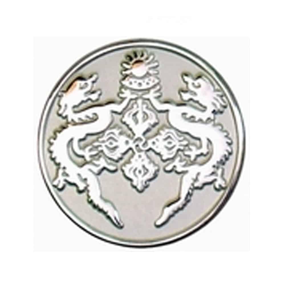 Platierung, Oberflaechenveredelung, Pins, Anstecker, Metallpins, Veredelung foggy-Silver, stumpfer Silberton