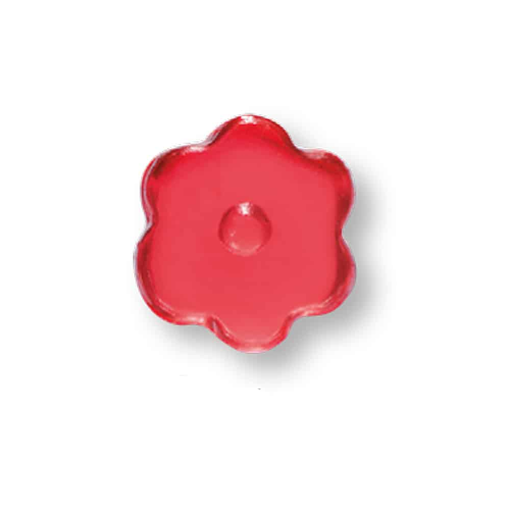 Werbeartikel Fruchtgummi in Blumenform im Werbetütchen mit Kundenlogo bedrucken lassen
