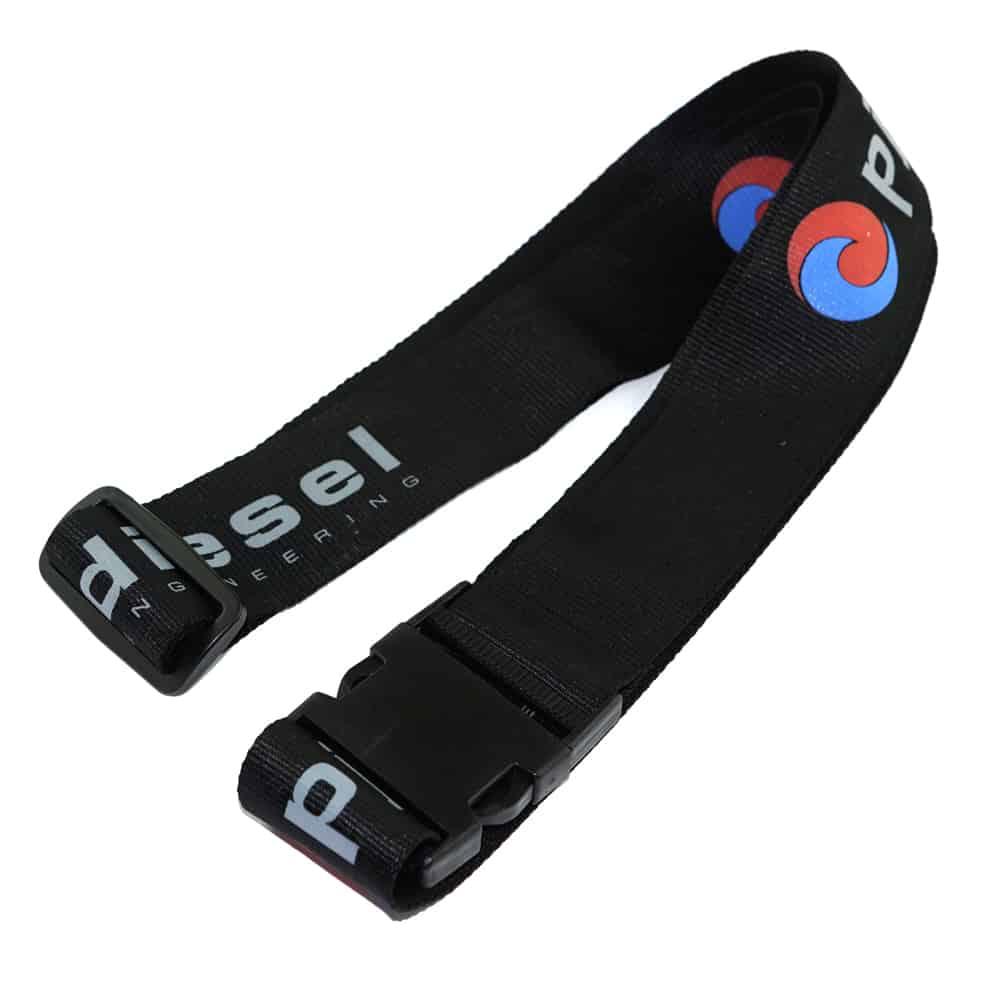 Koffergurte, Bag belts, luggage belt, Veredelung Siebdruck mehrfarbig, Werbeartikel