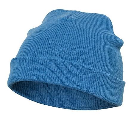 Mütze blau, Strickmütze
