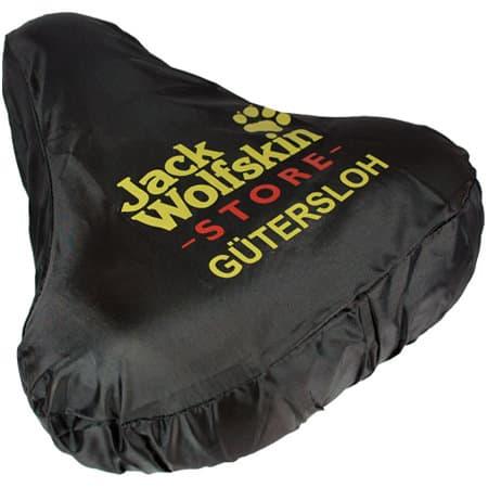 Sattelschutzbezug Nylon schwarz zweifarbiger Siebdruck