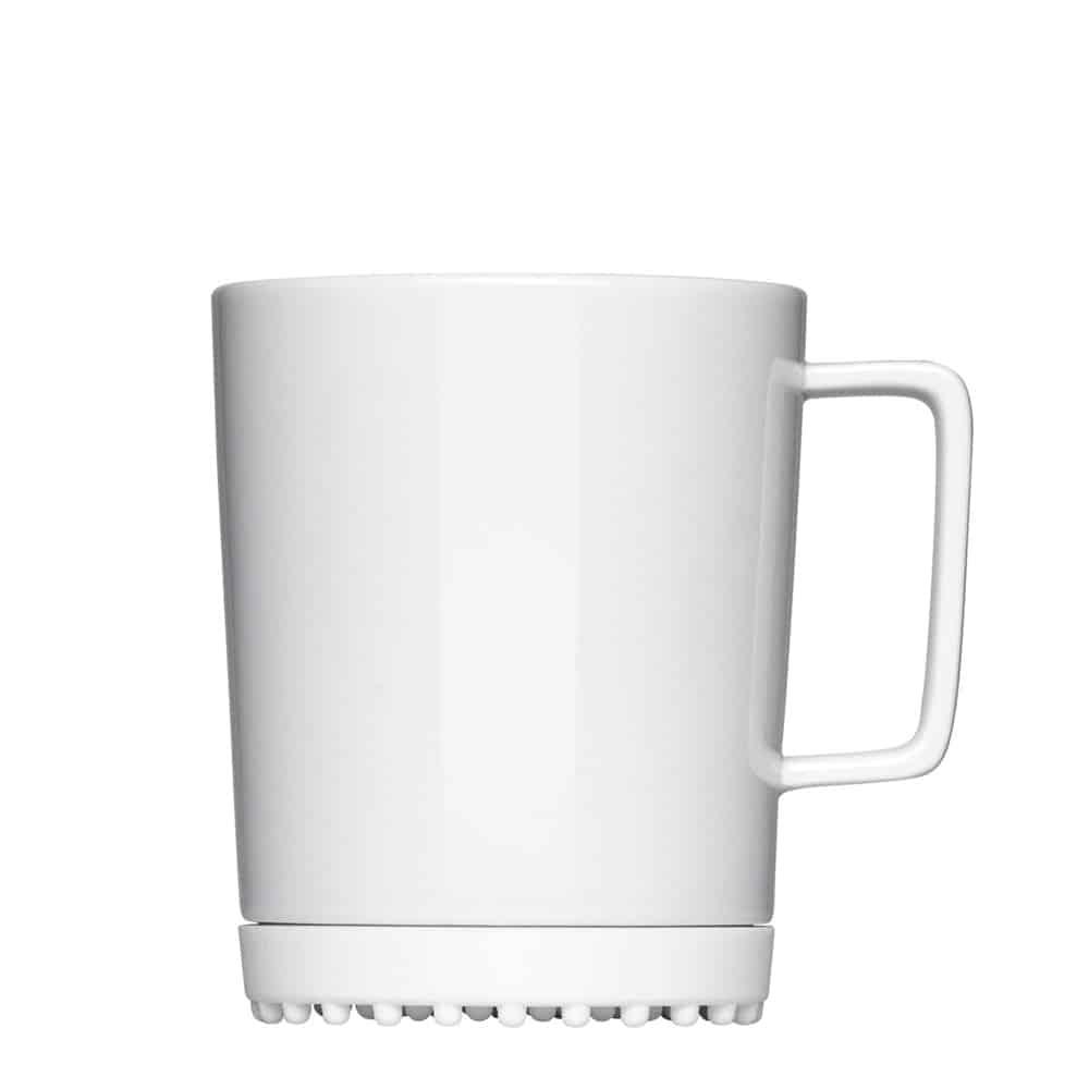 Mahlwerck Tasse From 352 mit Silikonpad, Porzellan, Werbeartikel
