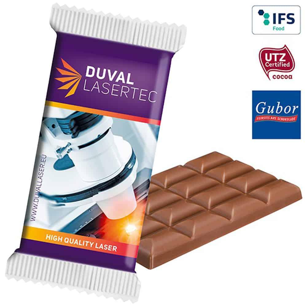 Super-Maxi-Schokoladentafel im Werbepack, Werbe-Schokolade, Werbegeschenk aus Schokolade, Schokolade im Werbetuetchen, Werbeartikel, Werbemittel, give-away, Schokoladentafel Super Maxi