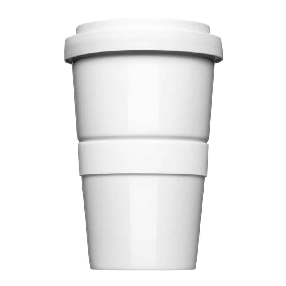 Thermotasse Kaffee Form 345, Mahlwerck, Porzellan, Werbeartikel