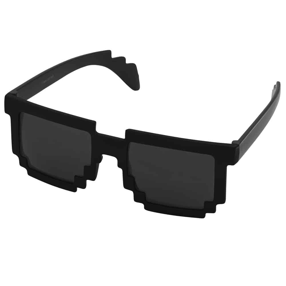 Werbe-Sonnenbrille, Sunpixel, Sonnenbrille im Pixelstyle, schwarz, Werbeartikel