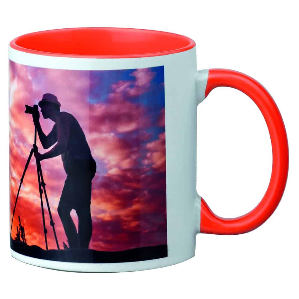 Werbe-Tasse, Tasse mit Fotodruck, kaffeebecher, Farbig, Werbeartikel