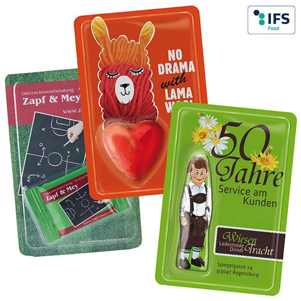 sweet card, werbeartikel, Ostern, schokolade
