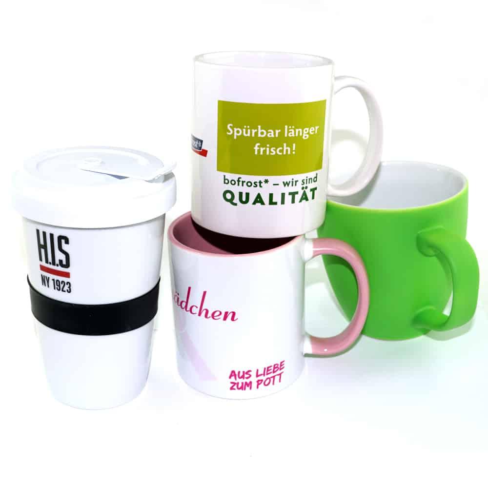 Kaffee-Tassen, Werbe-Tassen, Tassen mit Fotodruck, Transferdruck, Logo Einbrennen lassen, Werbeartikel