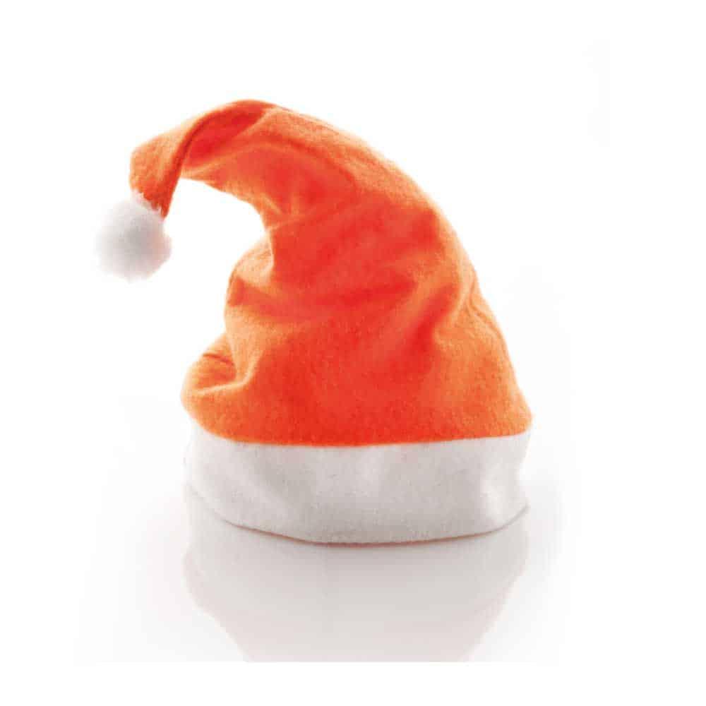 Weihnachtsartikel, Weihnachtskarte, Nikolaus, Christkind, Advent, Adventskalender, Weihnachtskarten herstellen lassen, Werbeartikel produzieren lassen, Nonvision, Werbeartikel herstellen lassen, Weihnachtsmützen, Santa Claus Mütze, Zipfelmütze, orange